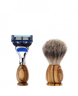 SHAVING BRUSH AND RAZOR travel-sized